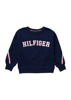 Tommy Hilfiger Fleece Crew Neck Sweatshirt (Big Girls)