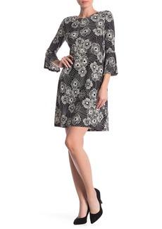 Tommy Hilfiger Floral Bell Sleeve Jersey Dress