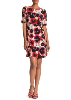 Tommy Hilfiger Floral Button Sleeve Sheath Dress