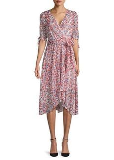 Tommy Hilfiger Floral High-Low Midi Dress