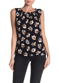 Tommy Hilfiger Floral Pleated Sleeveless Blouse