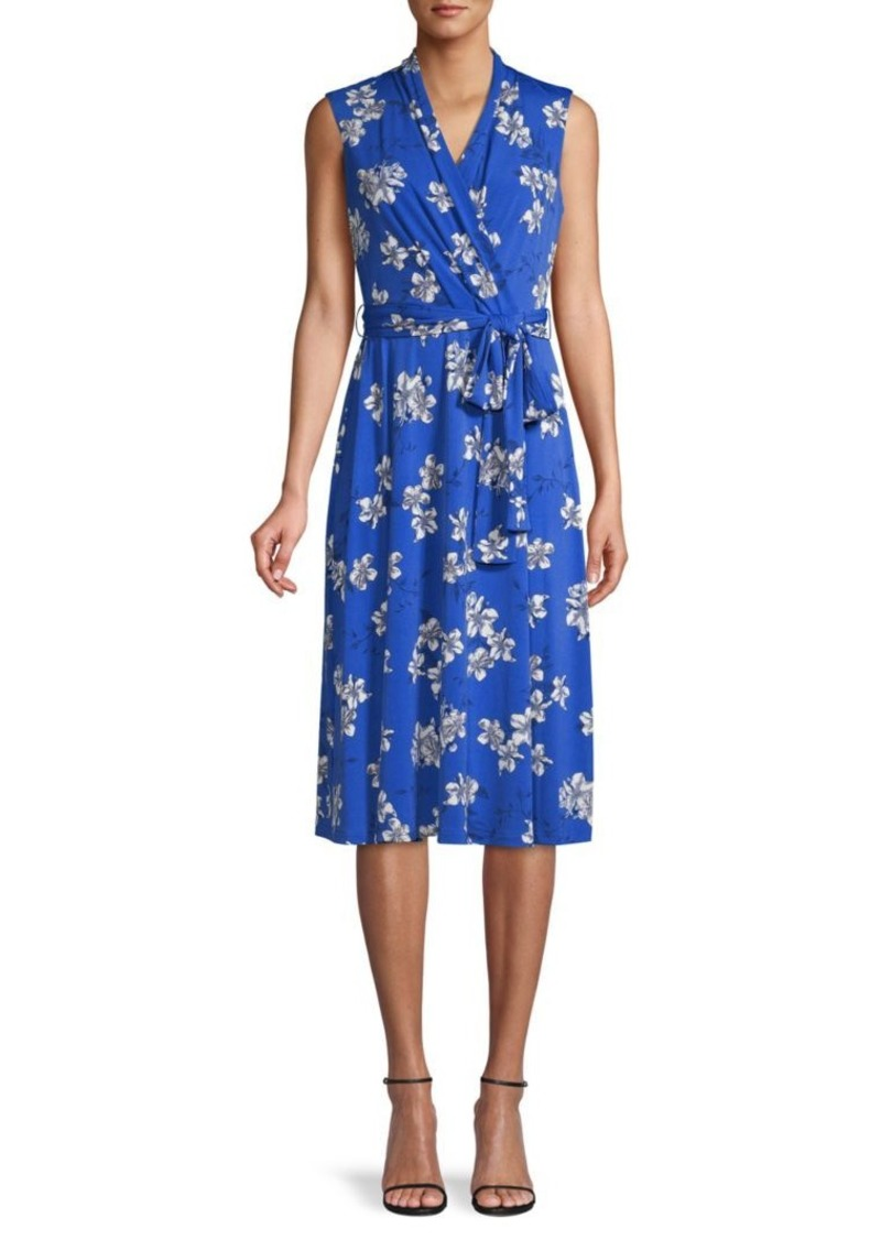Tommy Hilfiger Floral-Print Faux Wrap Dress