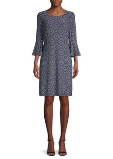 Tommy Hilfiger Geometric-Print Shift Dress