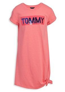Tommy Hilfiger Girl's Reversible-Sequin T-Shirt Dress