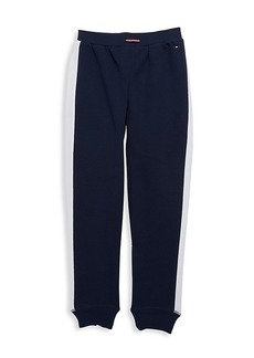 Tommy Hilfiger Girl's Side-Stripe Tapered Joggers