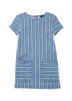 Tommy Hilfiger Girl's Striped Denim Dress