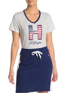 Tommy Hilfiger Graphic Logo V-Neck T-Shirt