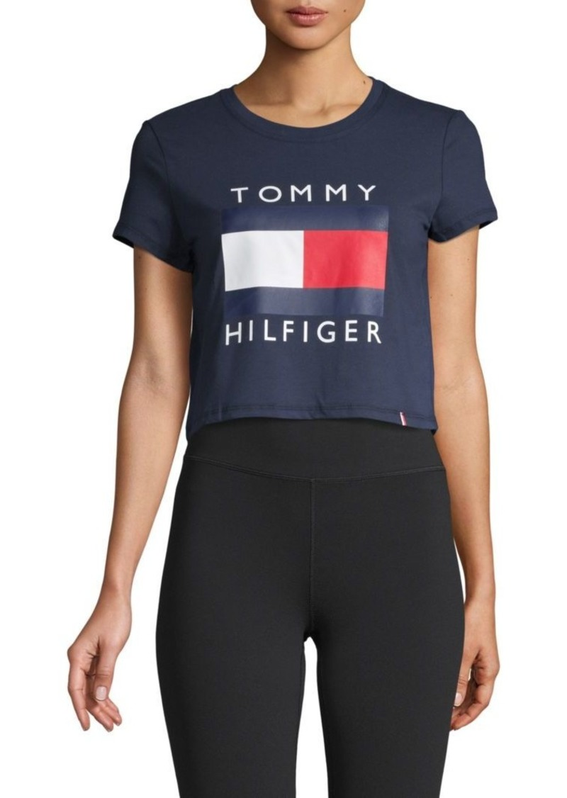 Tommy Hilfiger Graphic Short-Sleeve Cropped Tee