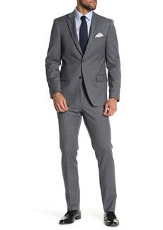 Tommy Hilfiger Grey Plaid Two Button Notch Lapel Slim Fit Suit