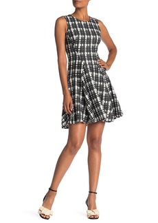 Tommy Hilfiger Grid Lace Sleeveless Fit & Flare Dress