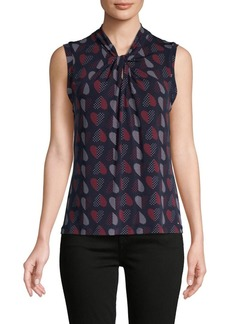 Tommy Hilfiger Heart-Print Sleeveless Top