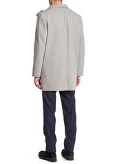 Tommy Hilfiger Heathered Hooded Zip Felted Coat