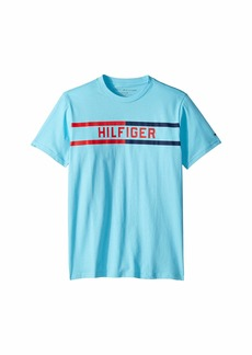 Tommy Hilfiger Hilfiger Bar Short Sleeve Crew Neck Tee Shirt (Big Kids)