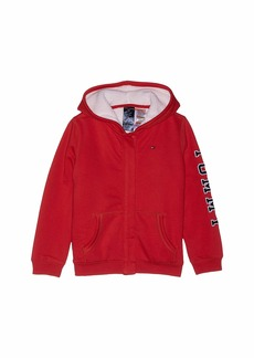 Tommy Hilfiger Hoodie Sweatshirt with Magnetic Buttons and Faux Fur Lining (Little Kids/Big Kids)