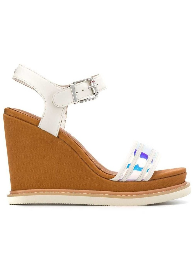 Tommy Hilfiger iridescent strap sandals