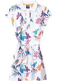 Tommy Hilfiger Julie Polo Dress with VELCRO® Closure and Tie Belt (Toddler/Little Kids/Big Kids)