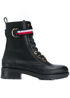 Tommy Hilfiger lace-up biker boots