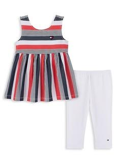 Tommy Hilfiger Little Girl's 2-Piece Dress & Leggings Set