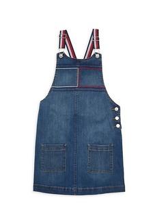 Tommy Hilfiger Little Girl's Denim Dress Overalls