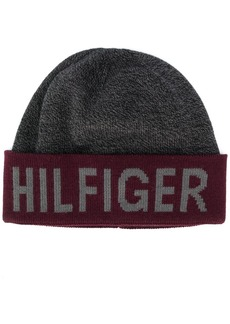 Tommy Hilfiger logo embroidered beanie hat