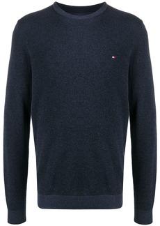 Tommy Hilfiger logo embroidered jumper