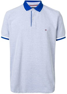Tommy Hilfiger logo embroidered polo shirt