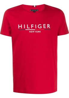 Tommy Hilfiger logo embroidered T-shirt