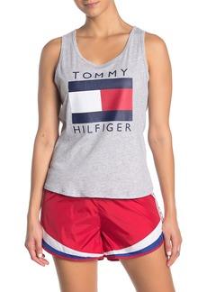 Tommy Hilfiger Logo Front Knot Hem Tank Top