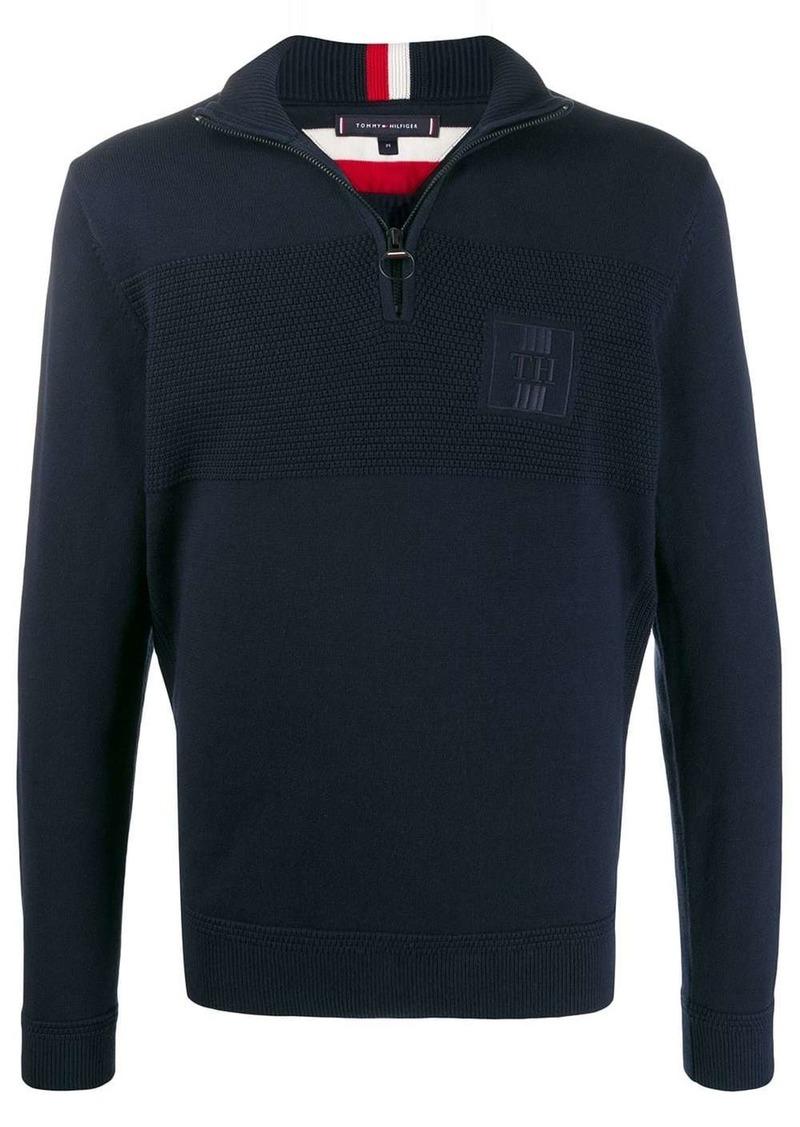 Tommy Hilfiger logo half-zip sweater