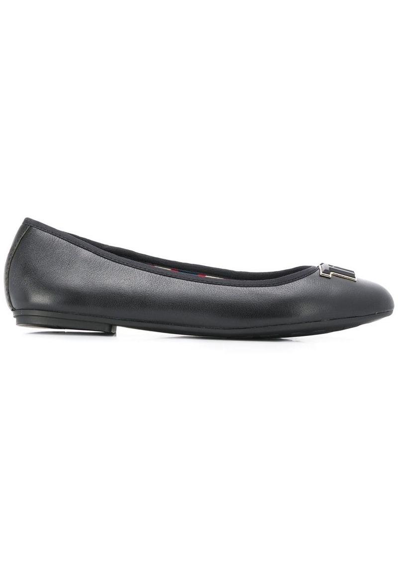 Tommy Hilfiger logo hardware ballerina shoes