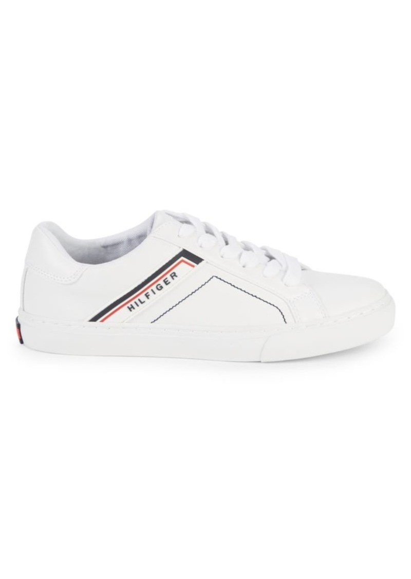Tommy Hilfiger Logo Leather Sneakers