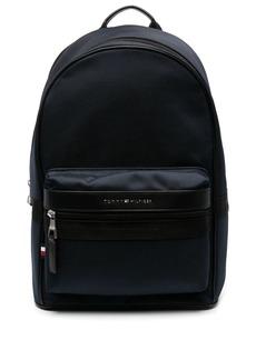 Tommy Hilfiger logo-lettering mesh backpack