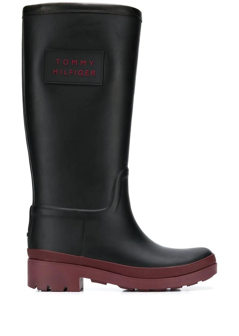 Tommy Hilfiger logo patch rain boots