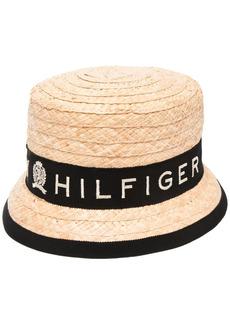 Tommy Hilfiger logo-print sun hat
