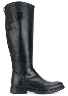 Tommy Hilfiger logo riding boots