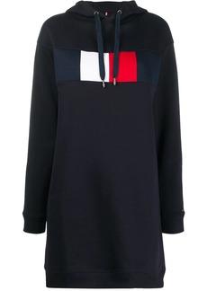Tommy Hilfiger logo stamp hooded sweat dress