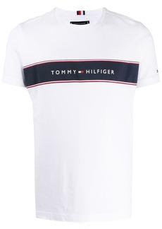 Tommy Hilfiger logo stripe print T-shirt