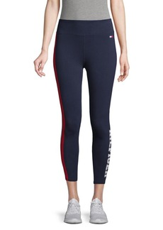 Tommy Hilfiger Logo-Stripe Stretch Cotton Leggings