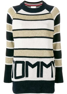 Tommy Hilfiger logo striped jumper