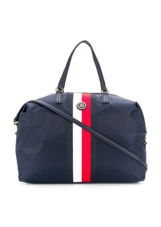 Tommy Hilfiger logo striped tote