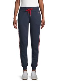 Tommy Hilfiger Logo Tape Cotton-Blend Jogger Pants