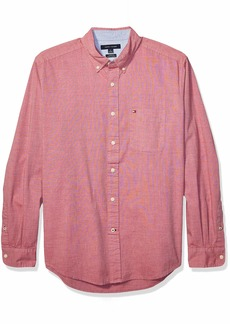 Tommy Hilfiger Men's Long Sleeve Button Down Shirt in Classic Fit  MD