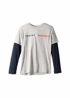 Tommy Hilfiger Long Sleeve Crew Neck Shirt (Big Kids)