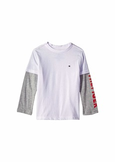 Tommy Hilfiger Long Sleeve Crew Neck Shirt (Big Kids)