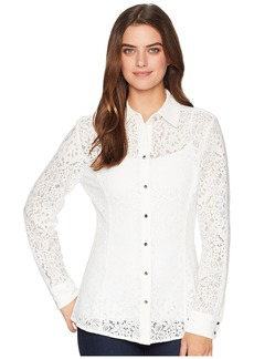 Tommy Hilfiger Long Sleeve Lace Button Blouse
