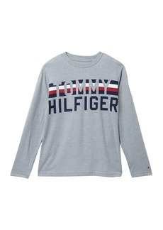 Tommy Hilfiger Long Sleeve Logo T-Shirt (Big Boys)