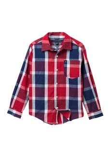 Tommy Hilfiger Long Sleeve Plaid Shirt (Big Boys)