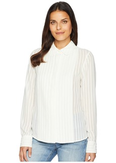 Tommy Hilfiger Long Sleeve Shadow Stripe Button Blouse