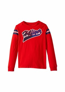 Tommy Hilfiger Long Sleeve T-Shirt with VELCRO® Brand Closure at Shoulders (Little Kids/Big Kids)