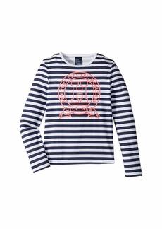 Tommy Hilfiger Long Sleeve T-Shirt with Velcro® Shoulder Closure (Little Kids/Big Kids)